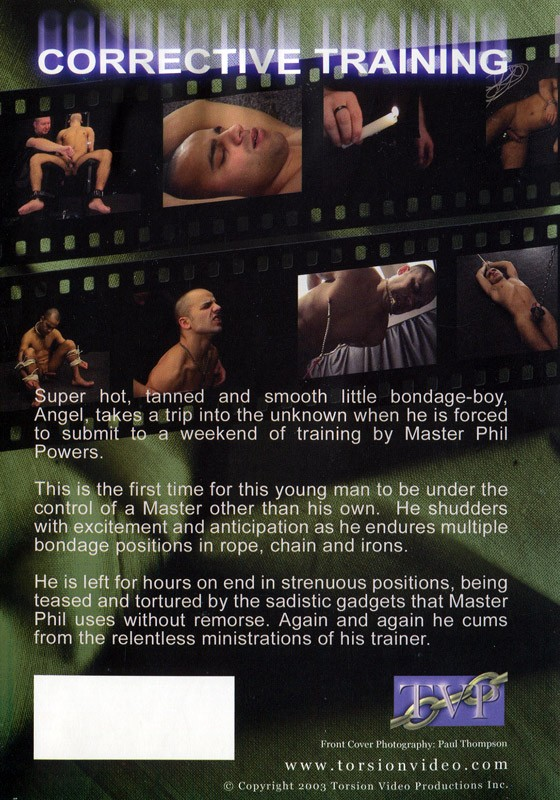 Corrective Training DVD - Back