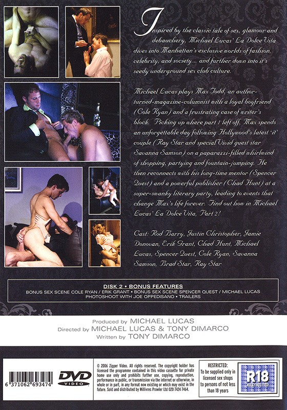 La Dolce Vita part II DVD - Back