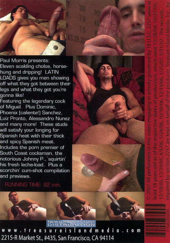 LatinLoads volume 1 DVD - Back