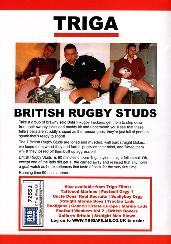 British Rugby Studs Cover Back