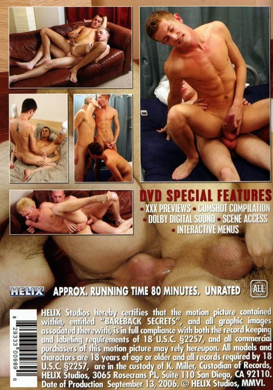 Bareback Secrets DVD - Back