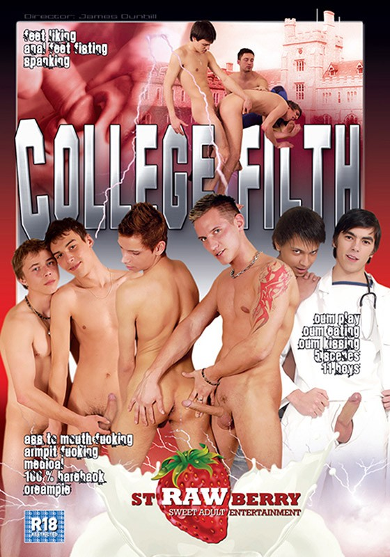 College Filth DVD - Front