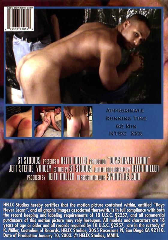 Boys Never Learn DVD - Back