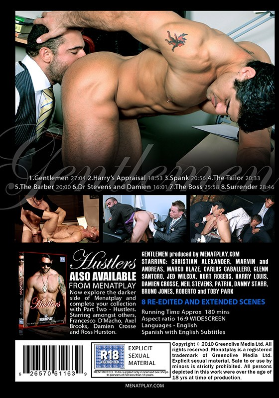 Gentlemen: The Menatplay Ultimate Collection Part 1 DVD - Back