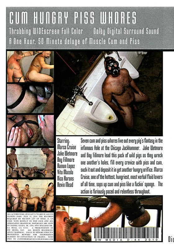 Cum Hungry Piss Whores DVD - Back