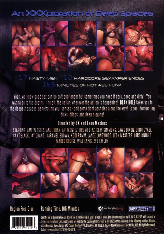 Blak Hole DVD - Back