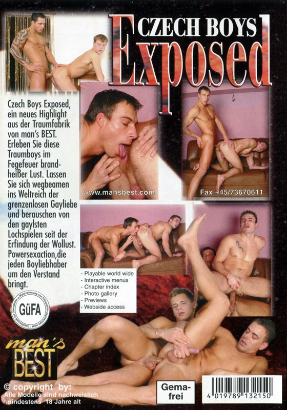Czech Boys Exposed DVD - Back