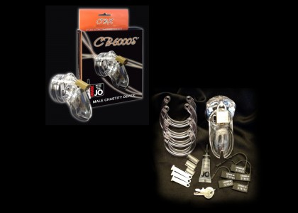 CB-6000S Chastity Cage - Clear - 37 mm.