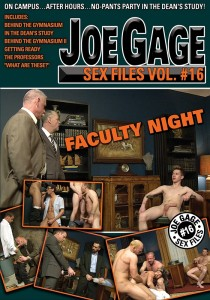Joe Gage Sex Files vol. #16: Faculty Night DVD (S)